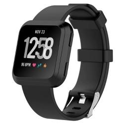 Sportovní silikonový řemínek pro Fitbit Versa 2 černý