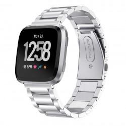 Kovový řemínek pro Fitbit Versa stříbrný