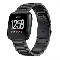 Kovový řemínek pro Fitbit Versa 2 černý