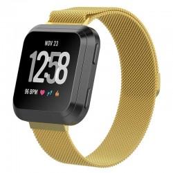 Řemínek Milánský tah pro Fitbit Versa 2 zlatý