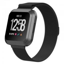 Řemínek Milánský tah pro Fitbit Versa 2 černý