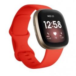 Sportovní silikonový řemínek pro Fitbit Versa 3 červený