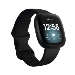 Sportovní silikonový řemínek pro Fitbit Versa 3 černý