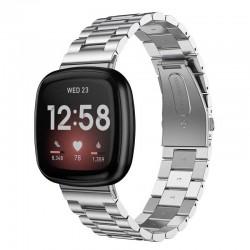 Kovový řemínek pro Fitbit Versa 3 stříbrný