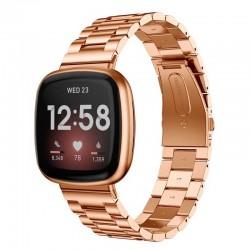 Kovový řemínek pro Fitbit Versa 3 růžový