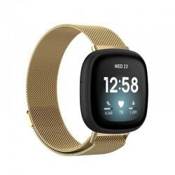 Řemínek Milánský tah pro Fitbit Versa 3 zlatý