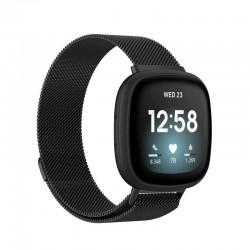 Řemínek Milánský tah pro Fitbit Versa 3 černý