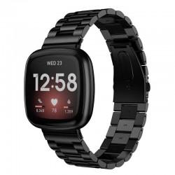 Kovový řemínek pro Fitbit Sense černý