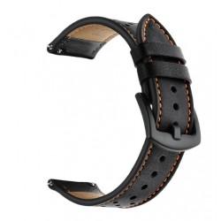 Kožený řemínek pro Garmin Forerunner 645 černý