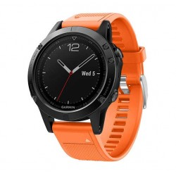 Silikonový řemínek pro Garmin Tactix Charlie oranžový