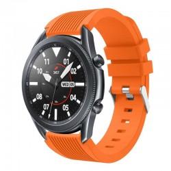 Silikonový řemínek pro Samsung Galaxy Watch 46 mm oranžový