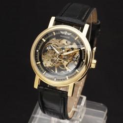 Pánské hodinky Winner Automatic Skeleton Gold
