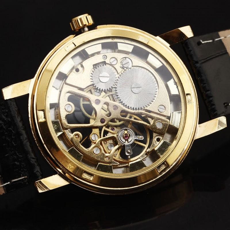 a12f892e0 Pánské hodinky Winner Automatic Skeleton Gold