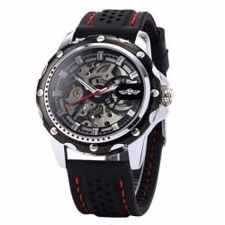 Pánské hodinky Winner Automatic Rubber Skeleton černé