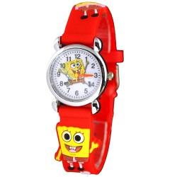 Dětské hodinky s motivem Spongebob červené