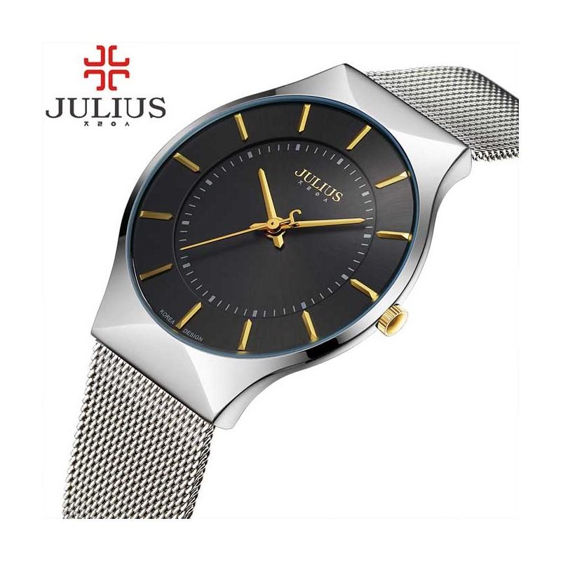 ... Pánské hodinky Julius JL-02 černo-stříbrné ... 396a8a195d