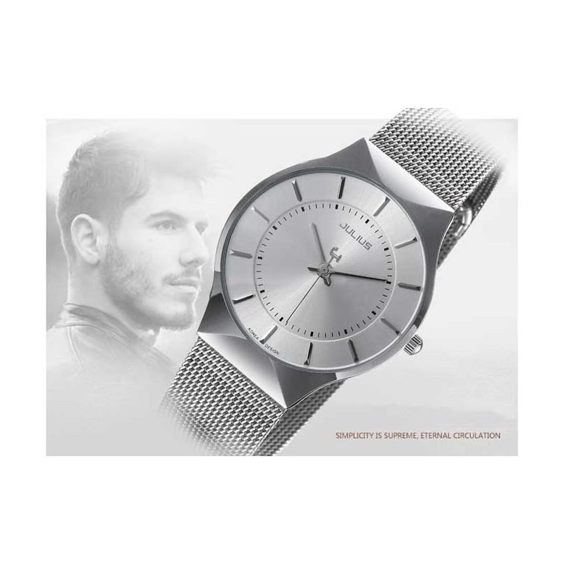 ... Pánské hodinky Julius JL-02 stříbrné ... ce0eb6914e