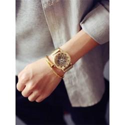 Dámské hodinky JIS se zlatým ciferníkem