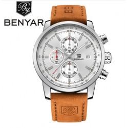 Pánské hodinky Chronograph BENYAR BY-5102M bílé