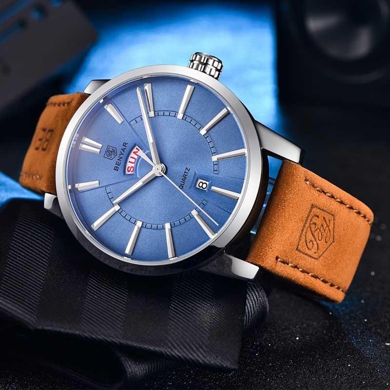 a931d86c661 Pánské hodinky BENYAR BY-5101M s modrým ciferníkem