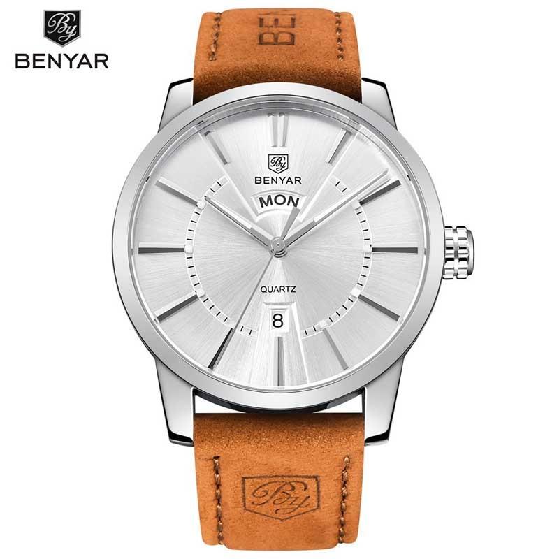 8593abfa0f4 Pánské hodinky BENYAR BY-5101M se stříbrným ciferníkem