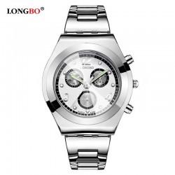 Dámské hodinky LONGBO 8399 s bílým ciferníkem