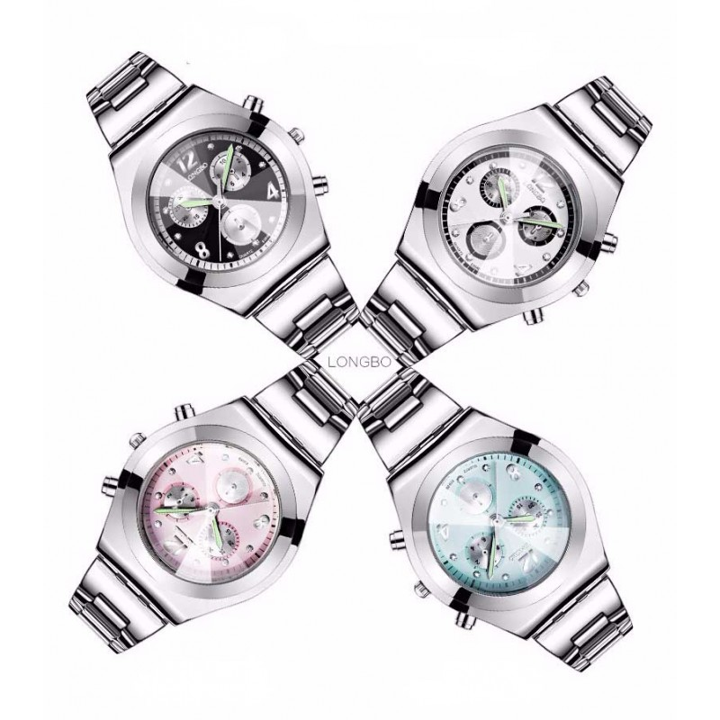1e810caa6d9 Dámské hodinky LONGBO 8399 s bílým ciferníkem