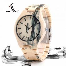 Pánské dřevěné hodinky Bobo Bird Smoke WO17