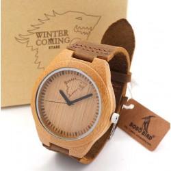 Pánské dřevěné hodinky Bobo Bird Animals Vlk