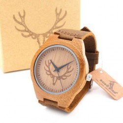 Pánské dřevěné hodinky Bobo Bird Animals Parohy