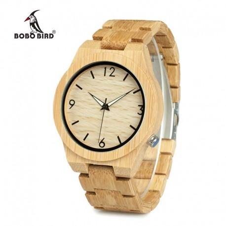 Pánské dřevěné hodinky Bobo Bird WD27 s dřevěným řemínkem