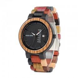 Pánské dřevěné hodinky Bobo Bird Colorful P14