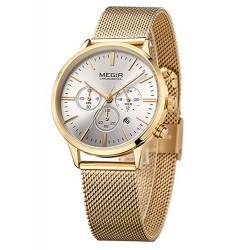 Dámské hodinky Megir Chronograph MS2011L zlaté