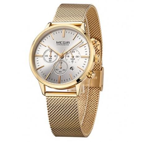 b8d20f312a5 Dámské hodinky Megir Chronograph MS2011L zlaté