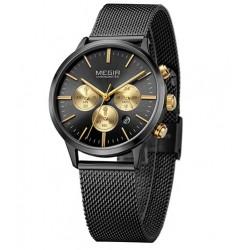 Dámské hodinky Megir Chronograph MS2011L černé