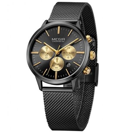 1e6532223dc Dámské hodinky Megir Chronograph MS2011L černé