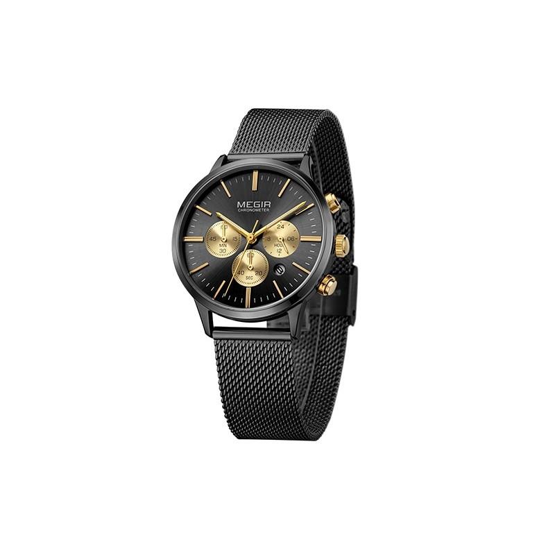 37af4ff1356 Dámské hodinky Megir Chronograph MS2011L černé