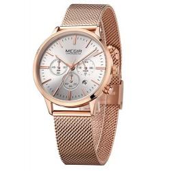 Dámské hodinky Megir Chronograph MS2011L růžové