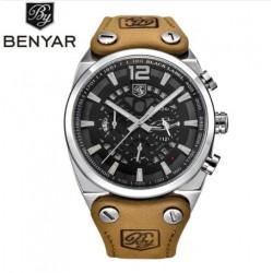 Pánské hodinky Army BENYAR BY-5112M stříbrno-bílé