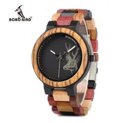 Dámské dřevěné hodinky Bobo Bird Colorful Jelen WP14