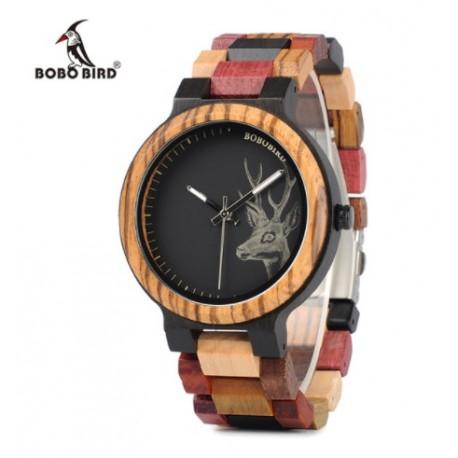 302f67fe7 Dámské dřevěné hodinky Bobo Bird Colorful Jelen WP14
