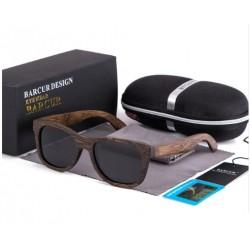 Dřevěné sluneční brýle BARCUR BC8200 černé