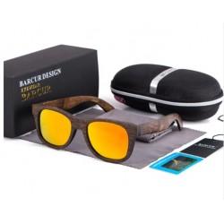 Dřevěné sluneční brýle BARCUR BC8200 oranžové
