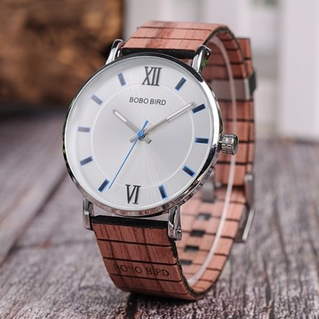 Pánské hodinky s dřevěným páskem Bobo Bird W08 hnědé
