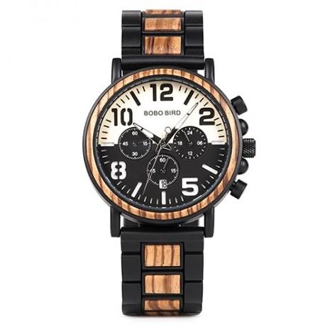 Pánské dřevěné hodinky Bobo Bird Stopwatch W-R25