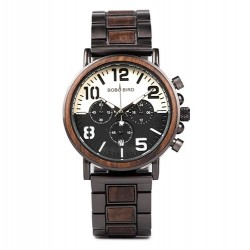 Pánské dřevěné hodinky Bobo Bird Stopwatch W-R25 hnědé