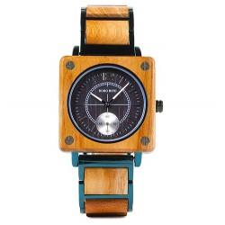 Pánské dřevěné hodinky Bobo Bird Square W-R14-3