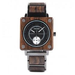 Pánské dřevěné hodinky Bobo Bird Square W-R14-1
